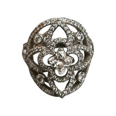 Louis Vuitton Diamond White Gold Ring