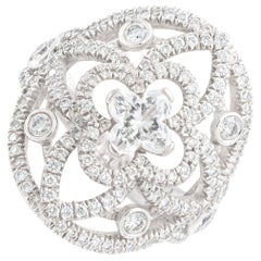 Louis Vuitton Diamond White Gold Ring