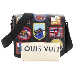 Louis Vuitton District NM Messenger Bag Alps Patches Damier Graphite PM
