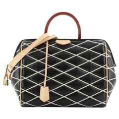 Louis Vuitton Doc Handbag Malletage Leather BB