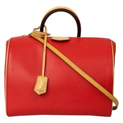 LOUIS VUITTON Doc Shoulder bag in Red Leather