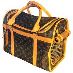 Louis Vuitton Dog Carrier 40 Monogram Canvas Luggage Bag
