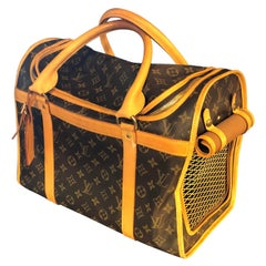 Louis Vuitton Dog Carrier 40 Monogram Canvas Luggage Bag