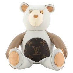 Louis Vuitton Dou Dou Teddy Bear Leather with Monogram Canvas