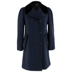 Louis Vuitton Double Breasted Navy Coat SIZE L