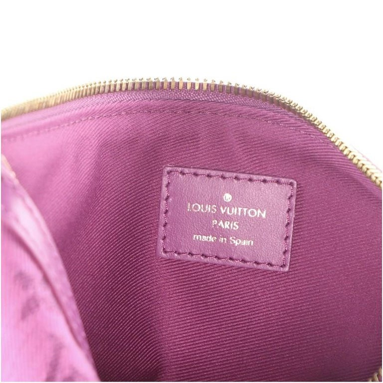Louis Vuitton Double Flat Messenger Bag Limited Edition Logo Story Monogram For Sale 6
