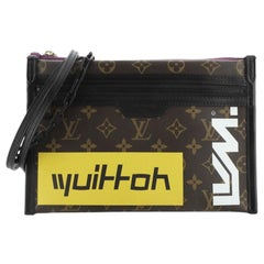 Louis Vuitton Double Flat Messenger Bag Limited Edition Logo Story Monogram