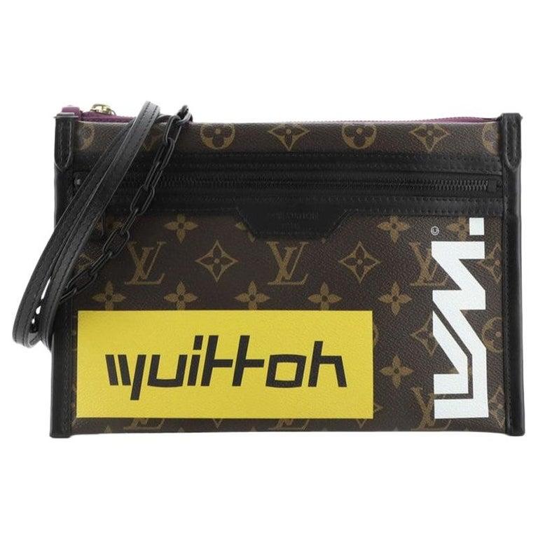 Louis Vuitton Double Flat Messenger Bag Limited Edition Logo Story Monogram For Sale