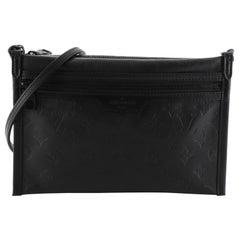 Louis Vuitton Double Flat Messenger Bag Monogram Shadow Leather