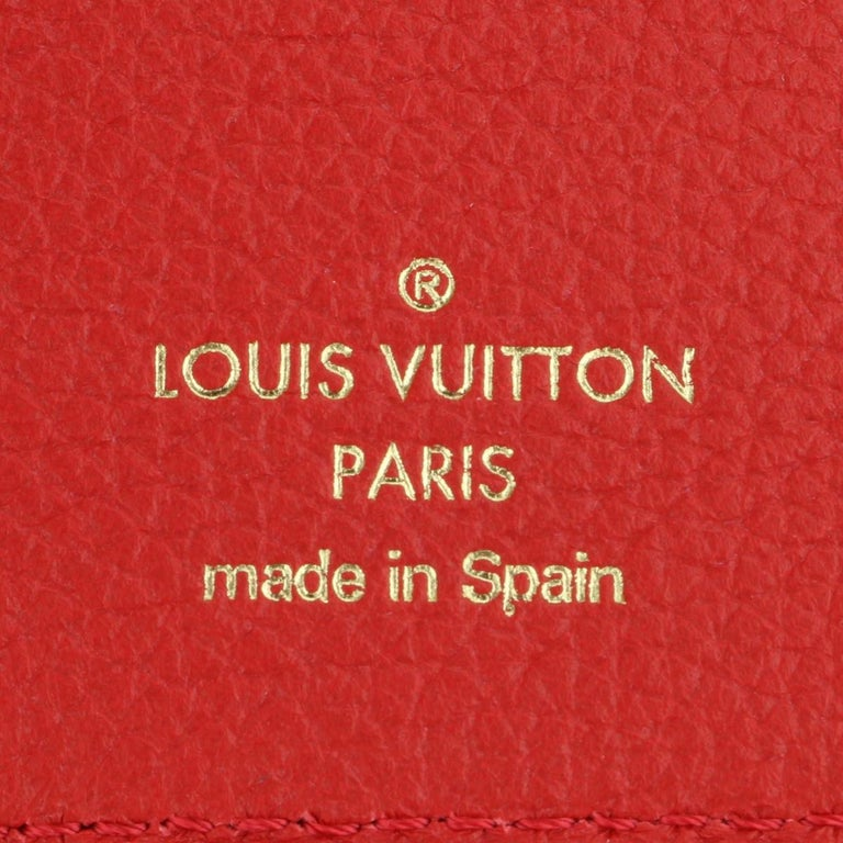Louis Vuitton Double V Compact Wallet Monogram Canvas Rubis Calf w/GHW 2018 For Sale 6