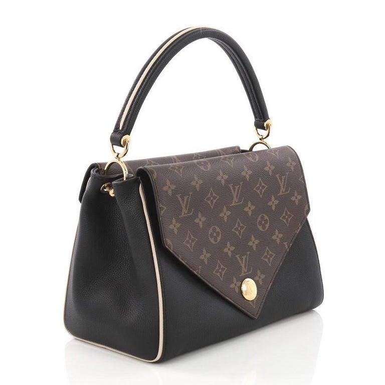 260e49f20b9 Black Louis Vuitton Double V Handbag Calfskin and Monogram Canvas For Sale