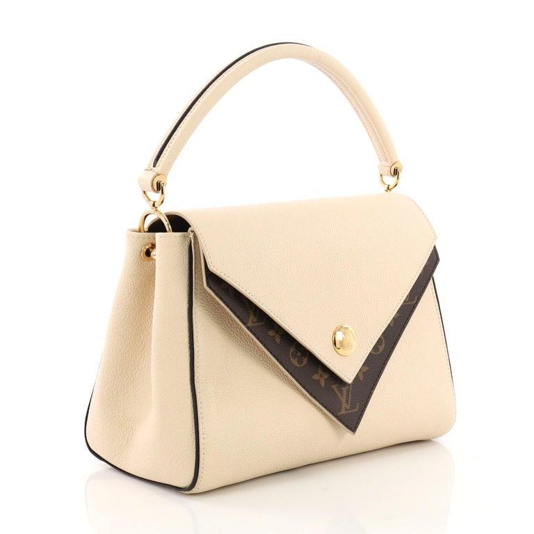 d570f834b6 Beige Louis Vuitton Double V Handbag Calfskin and Monogram Canvas For Sale