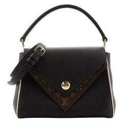 Louis Vuitton Double V Handbag Calfskin with Monogram Canvas