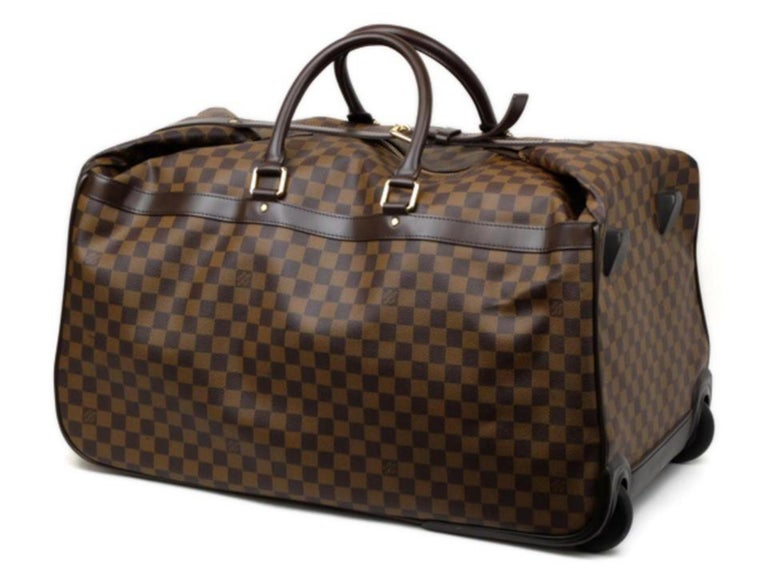 57104b8a523d Louis Vuitton Duffle Eole Damier Ebene 50 Rolling Luggage 2way 234985  Travel Bag In Good Condition