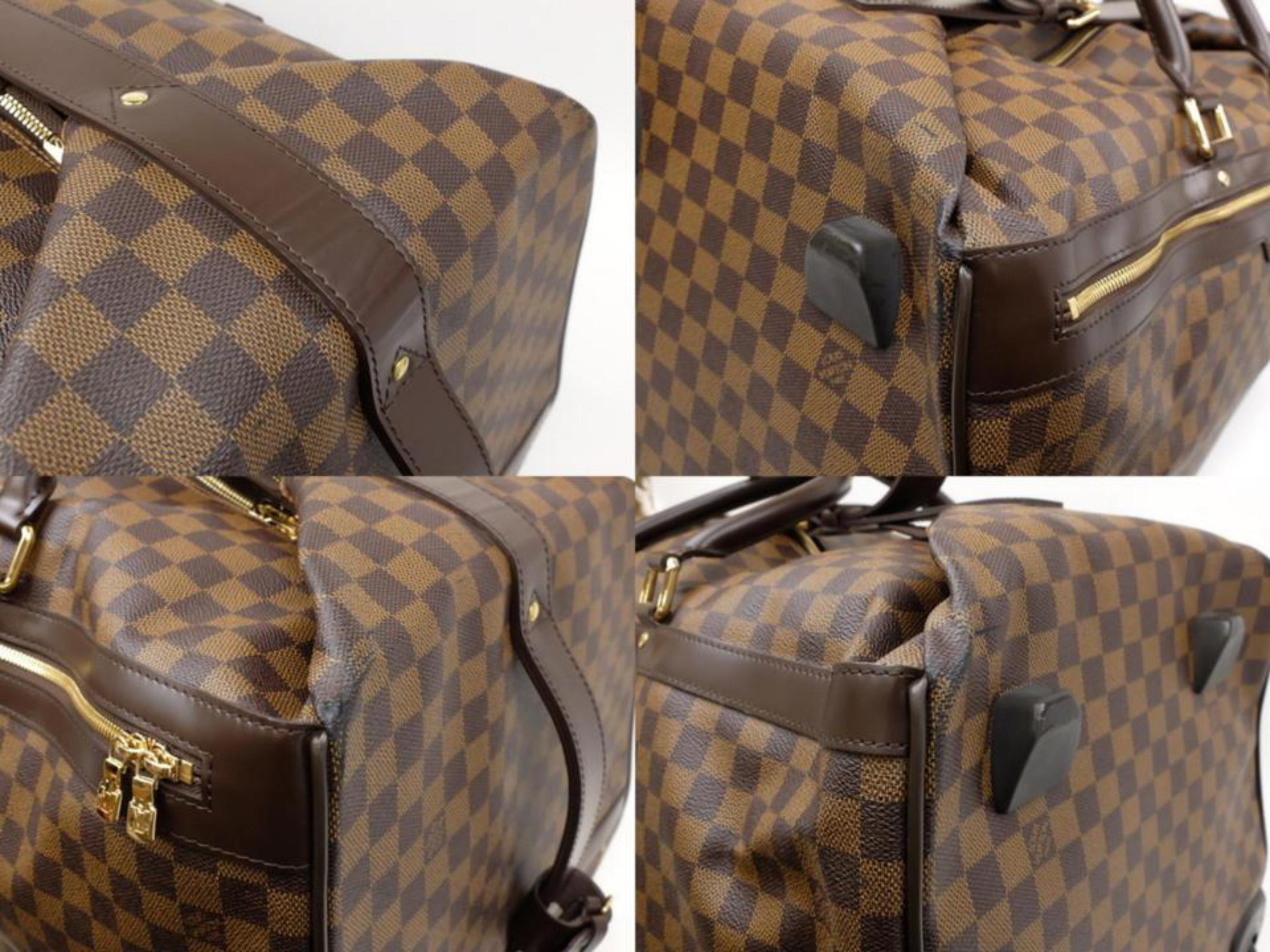 0c2b742f363c Louis Vuitton Duffle Eole Damier Ebene 50 Rolling Luggage 2way 234985 Travel  Bag For Sale at 1stdibs