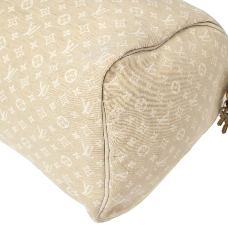 Louis Vuitton Dune Monogram Mini Lin Canvas Speedy 30 Bag 5