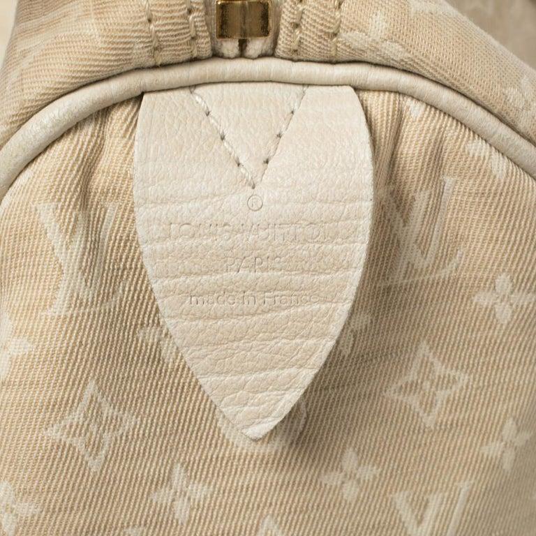 Louis Vuitton Dune Monogram Mini Lin Canvas Speedy 30 Bag In Good Condition In Dubai, Al Qouz 2