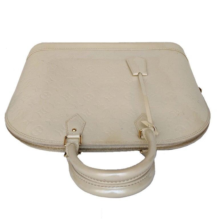 Louis Vuitton Dune Monogram Vernis Alma GM Handbag Satchel In Good Condition For Sale In Scottsdale, AZ