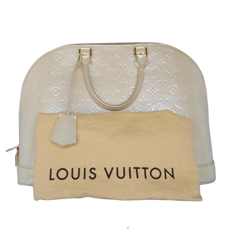 Louis Vuitton Dune Monogram Vernis Alma GM Handbag Satchel For Sale 3