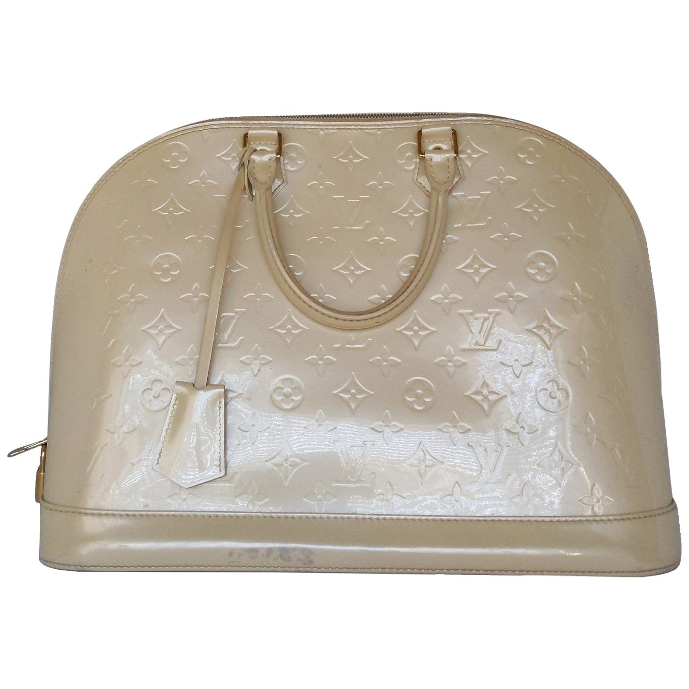Louis Vuitton Dune Monogram Vernis Alma GM Handbag Satchel