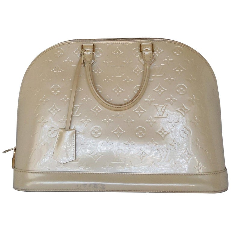 Louis Vuitton Dune Monogram Vernis Alma GM Handbag Satchel For Sale