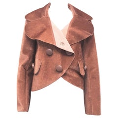 Louis Vuitton Dusty Rose Double Breasted Faux Fur Jacket 40 EU