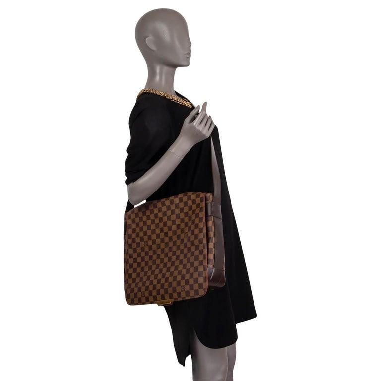 LOUIS VUITTON Ebene brown DAMIER CANVAS BASTILLE Messenger Bag For Sale 6