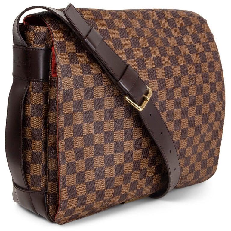 Brown LOUIS VUITTON Ebene brown DAMIER CANVAS BASTILLE Messenger Bag For Sale