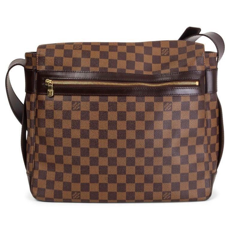 LOUIS VUITTON Ebene brown DAMIER CANVAS BASTILLE Messenger Bag In Good Condition For Sale In Zürich, CH