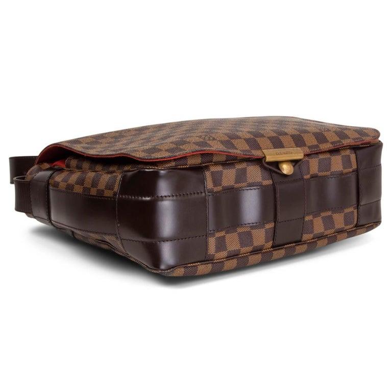 Women's LOUIS VUITTON Ebene brown DAMIER CANVAS BASTILLE Messenger Bag For Sale