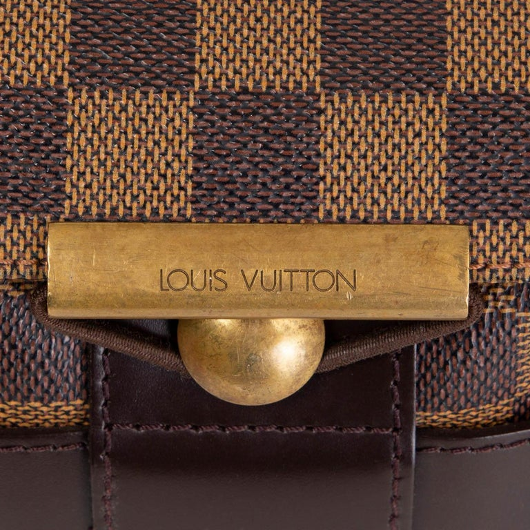 LOUIS VUITTON Ebene brown DAMIER CANVAS BASTILLE Messenger Bag For Sale 1