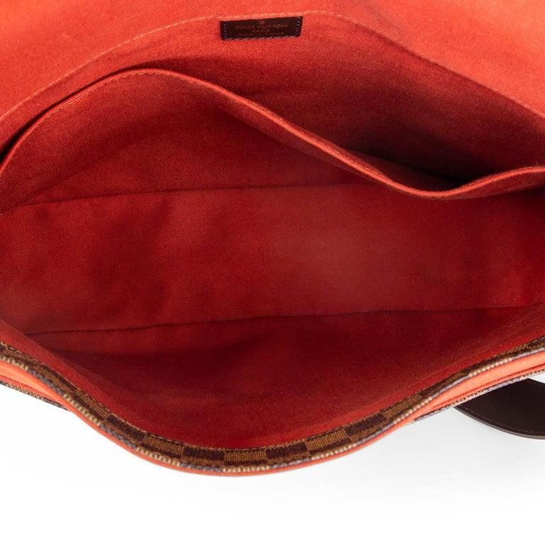LOUIS VUITTON Ebene brown DAMIER CANVAS BASTILLE Messenger Bag For Sale 3