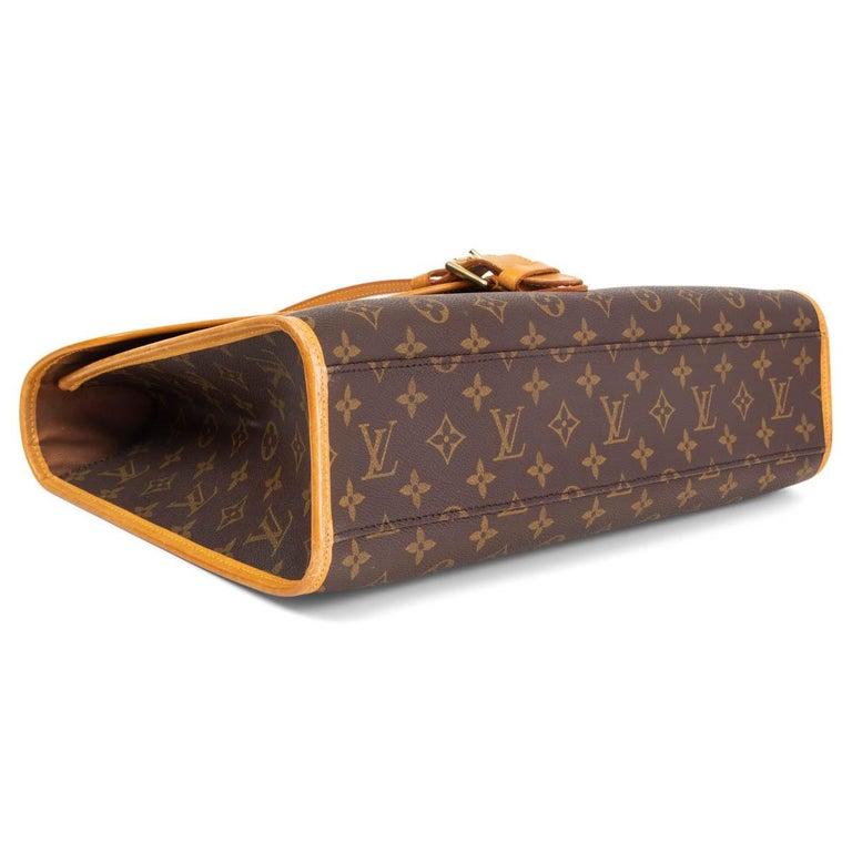 LOUIS VUITTON Ebene brown MONOGRAM CANVAS BEVERLY GM Briefcase Bag In Good Condition For Sale In Zürich, CH