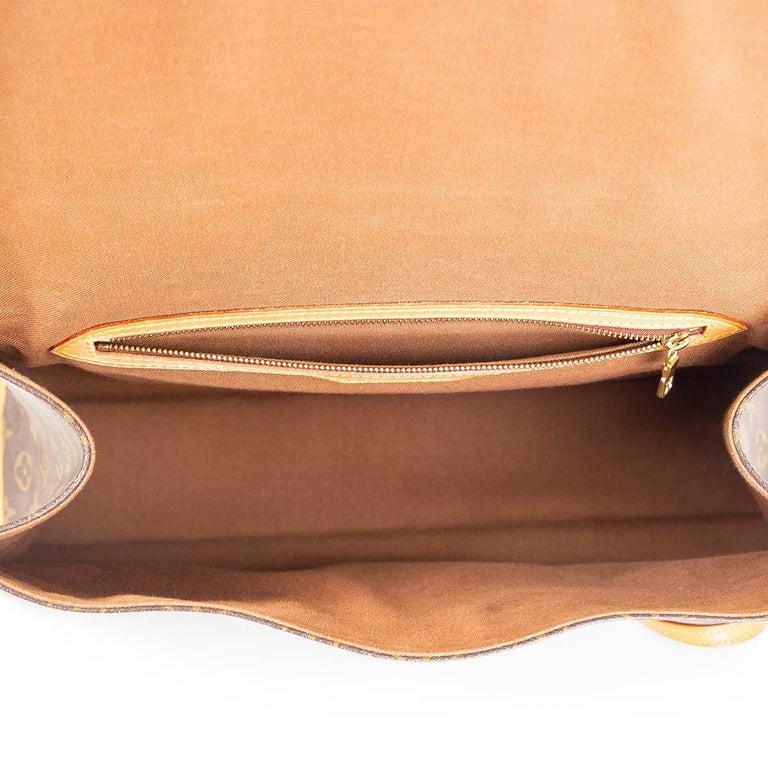 Women's LOUIS VUITTON Ebene brown MONOGRAM CANVAS BEVERLY GM Briefcase Bag For Sale