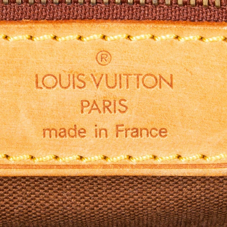 LOUIS VUITTON Ebene brown MONOGRAM CANVAS BEVERLY GM Briefcase Bag For Sale 1
