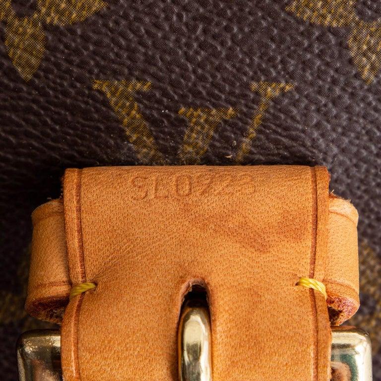 LOUIS VUITTON Ebene brown MONOGRAM CANVAS BEVERLY GM Briefcase Bag For Sale 2