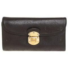 Louis Vuitton Ebene Monogram Mahina Leather Amelia Wallet