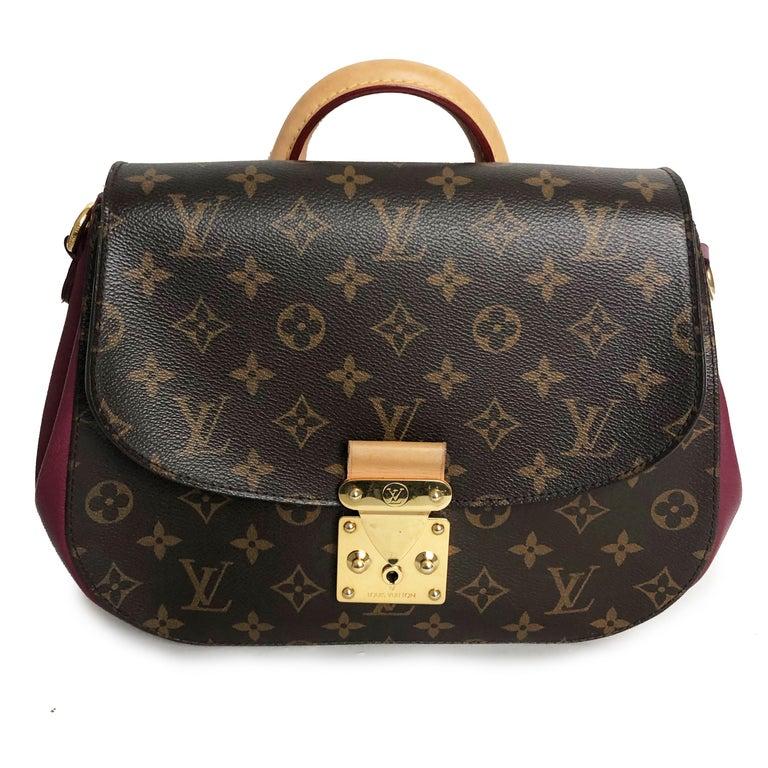 Louis Vuitton Eden MM Monogram Aurore Bag Purse + Shoulder Strap + Dust Cover For Sale 5