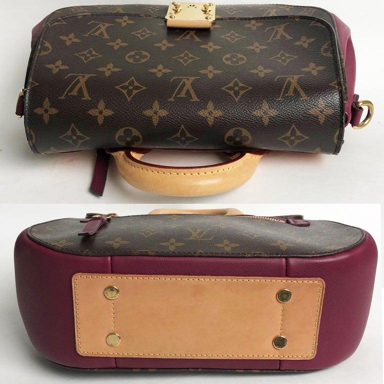 Louis Vuitton Eden MM Monogram Aurore Bag Purse + Shoulder Strap + Dust Cover For Sale 6