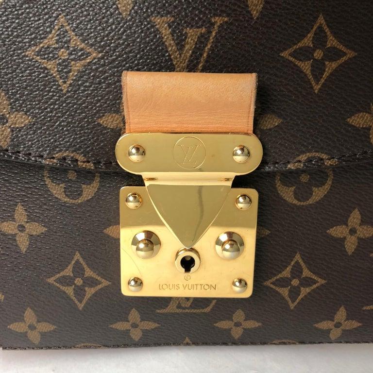 Louis Vuitton Eden MM Monogram Aurore Bag Purse + Shoulder Strap + Dust Cover For Sale 8