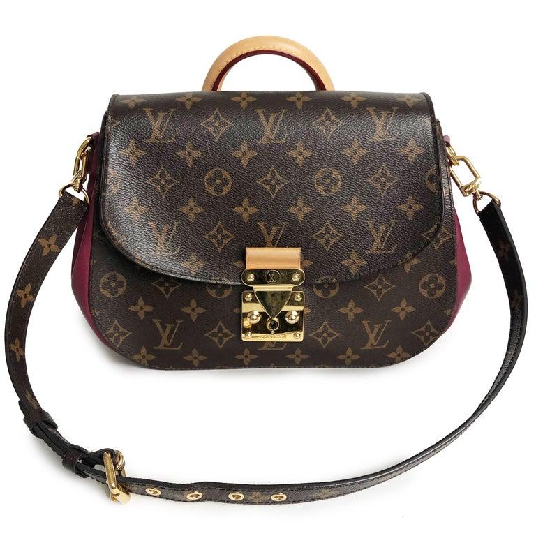 Black Louis Vuitton Eden MM Monogram Aurore Bag Purse + Shoulder Strap + Dust Cover For Sale