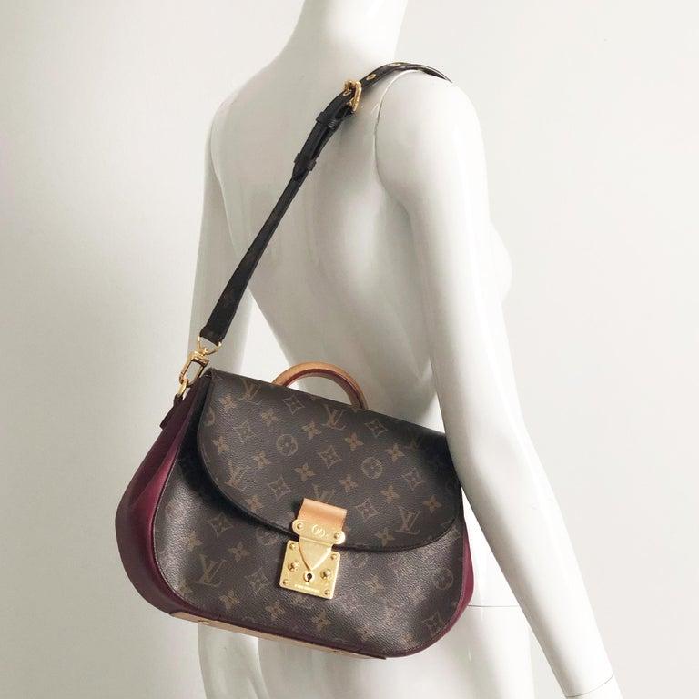 Louis Vuitton Eden MM Monogram Aurore Bag Purse + Shoulder Strap + Dust Cover In Good Condition For Sale In Port Saint Lucie, FL