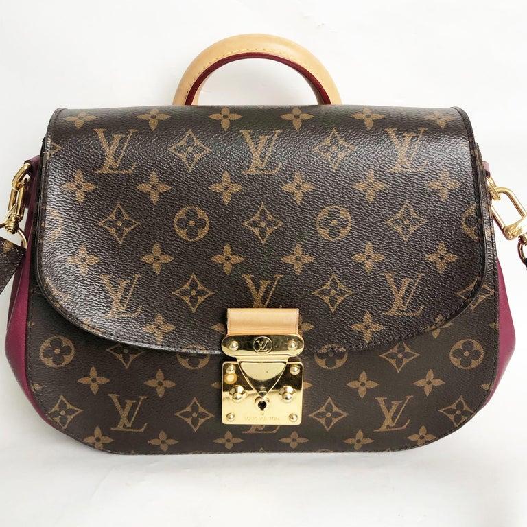 Women's Louis Vuitton Eden MM Monogram Aurore Bag Purse + Shoulder Strap + Dust Cover For Sale