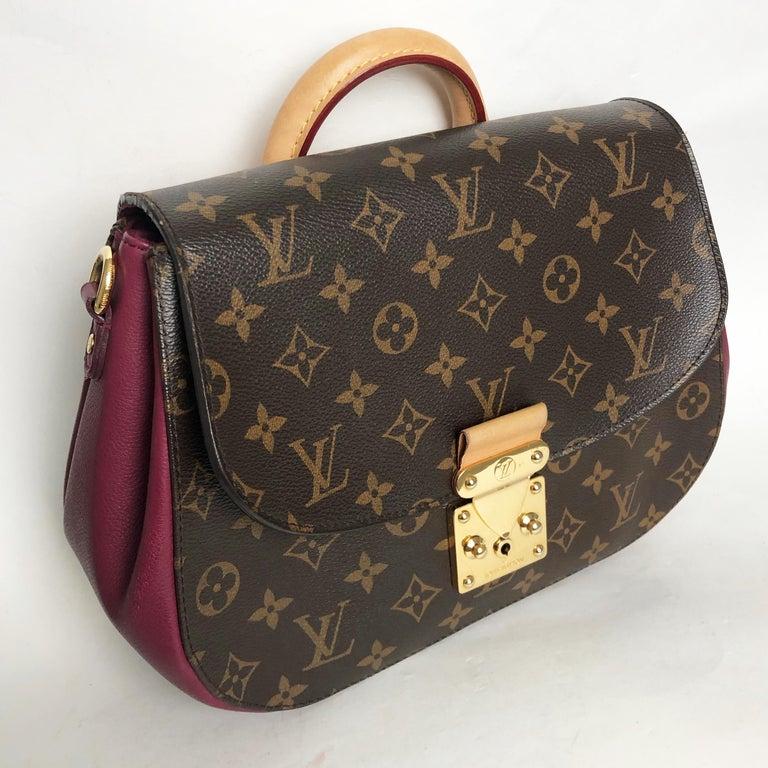Louis Vuitton Eden MM Monogram Aurore Bag Purse + Shoulder Strap + Dust Cover For Sale 1