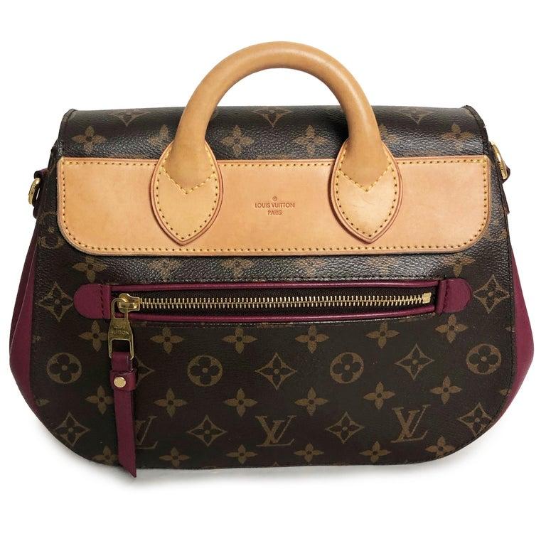 Louis Vuitton Eden MM Monogram Aurore Bag Purse + Shoulder Strap + Dust Cover For Sale 3
