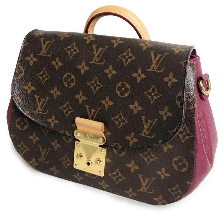 Louis Vuitton Eden MM Monogram Aurore Bag Purse + Shoulder Strap + Dust Cover For Sale 4