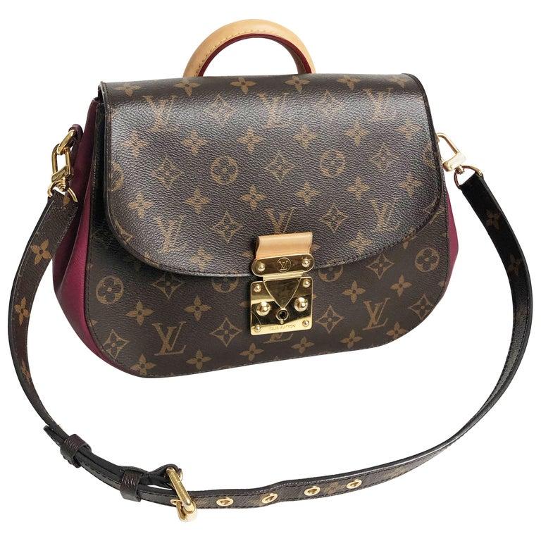 Louis Vuitton Eden MM Monogram Aurore Bag Purse + Shoulder Strap + Dust Cover For Sale