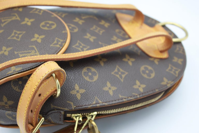 Louis Vuitton Ellipse Backpack in Monogram Canvas and Natural Leather In Good Condition For Sale In Paris, FR