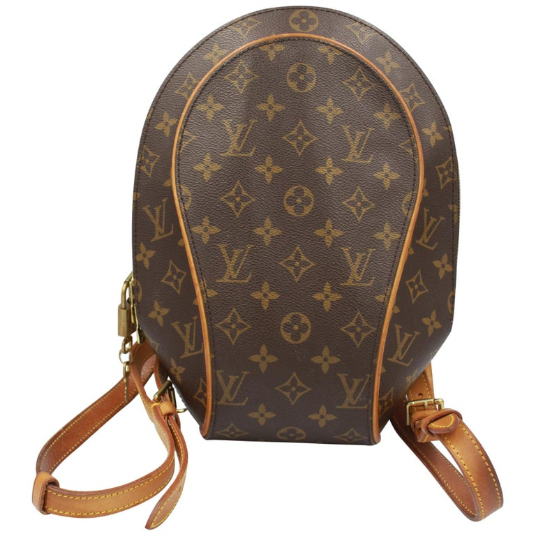 Louis Vuitton Ellipse Backpack in Monogram Canvas and Natural Leather For Sale