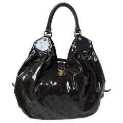 Louis Vuitton Emeraude Monogram Mahina Patent Leather L Bag